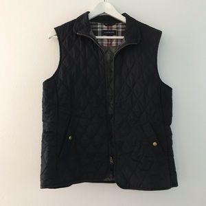 Lands end quilted Full Zip Up vest jacket